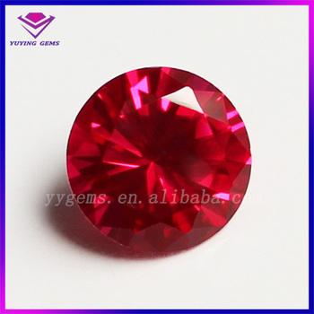 Round Shape Bloodstone Ruby Synthetic Precious Corundum Stones For Jewelry  - Buy Precious Corundum Stones,Bloodstone Ruby,Corundum Product on