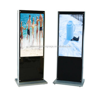 High Resolution 55 Inch Stand Alone Lcd Media Advertising