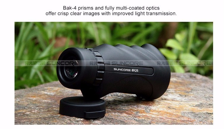 Suncore high definition mini monocular pocket scope with molded