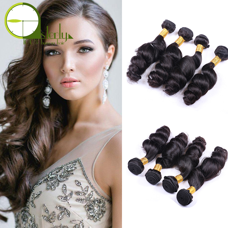 Grade 8A Loose Wave Bundles Human Hair Weave Bundles Virgin Indian Hair Alibaba Express India Chinese Supplier Raw Indian Hair