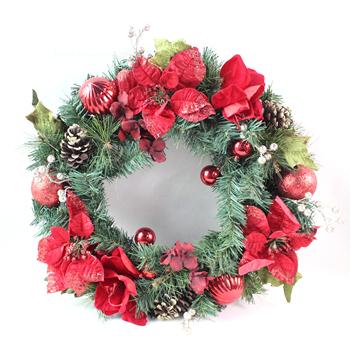 Christmas Wreath Decoration Accessories Xmas Ornaments Garland