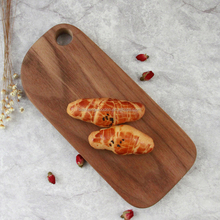 2017 NEW design Black walnut wooden fruit and vegetables cutting board wholesale