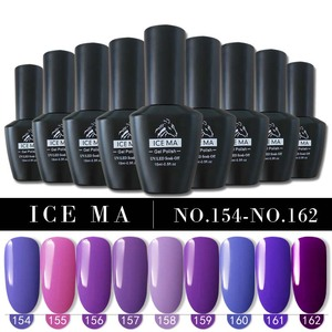 free samples ice ma uv led soak off pink red gel nail polish no brand private label new colors purple pure color