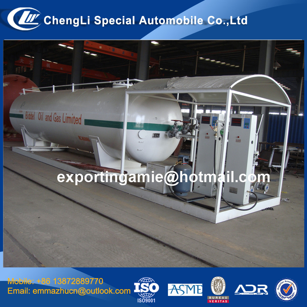 chinese hot selling 25metric tons mobile filling gas station tanks for sale