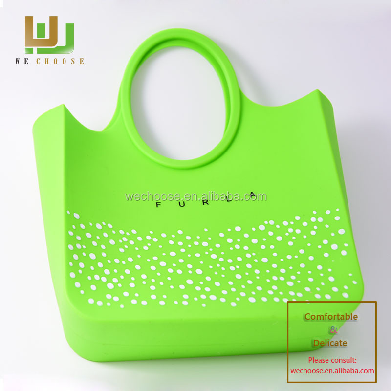 Green Silicone Handbag lady handbag for women shopping - 779