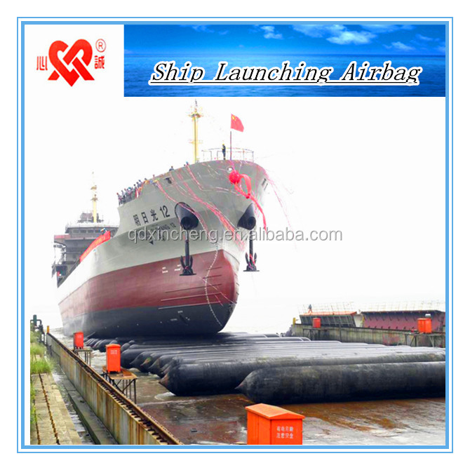 Launching and Docking Inflatable Rubber Ship Airbag