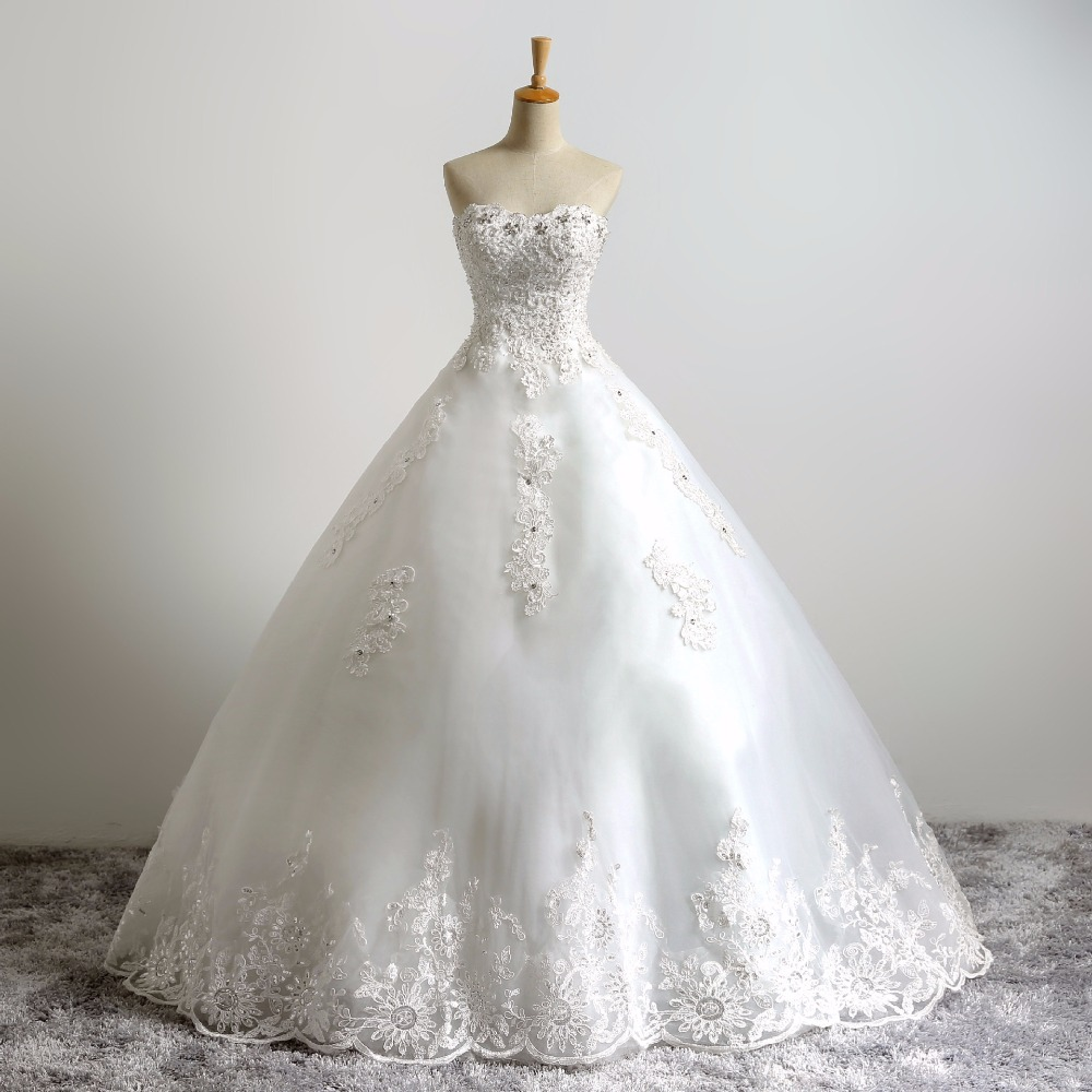 Zhf20 2018 Latest Diamond Princess Strapless Wedding Dress Vintage