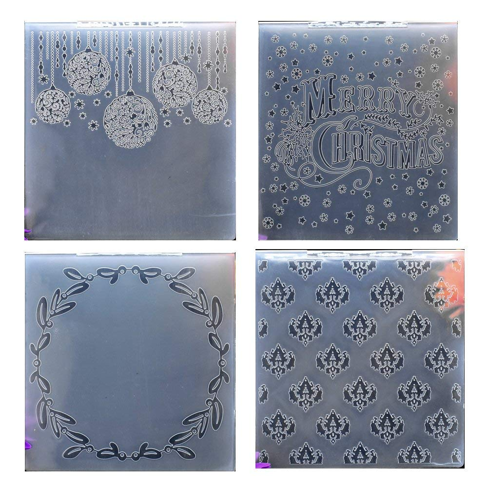 19.7x19.7cm Kwan Crafts Large Size Mesh Plastic Embossing Folders for Card Making Scrapbooking and Other Paper Crafts