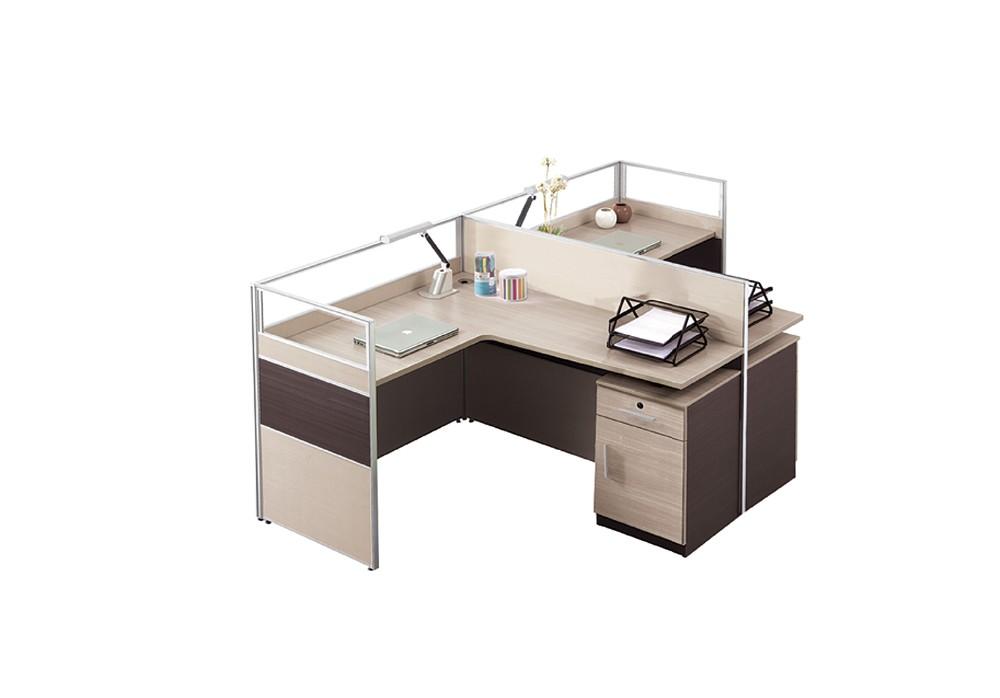 Grey Standard Office Desk Dimensions T Shaped Corner