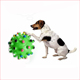 High Quality 7cm diameter rainbow rubber dog toy ball