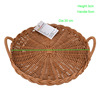 2 handles factory handmade weaving food storage decorating large size picnic basket