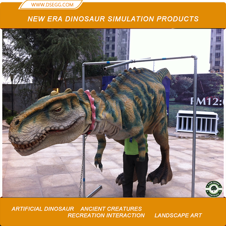 Alta realistica animata walking dinosaur costume