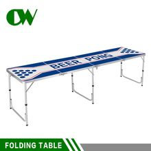 wholesale suppliers 6 feet custom beerpong 8ft aluminum camping picnic folding outdoor furniture beer pong table