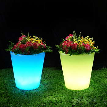various sizes rgb colorful garden decorative plastic led glowing lighted flower vase pots & Various Sizes Rgb Colorful Garden Decorative Plastic Led Glowing ...