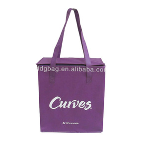 non woven cooler shopping bag portable cooler bag lunch high-quality insulated shopping bag