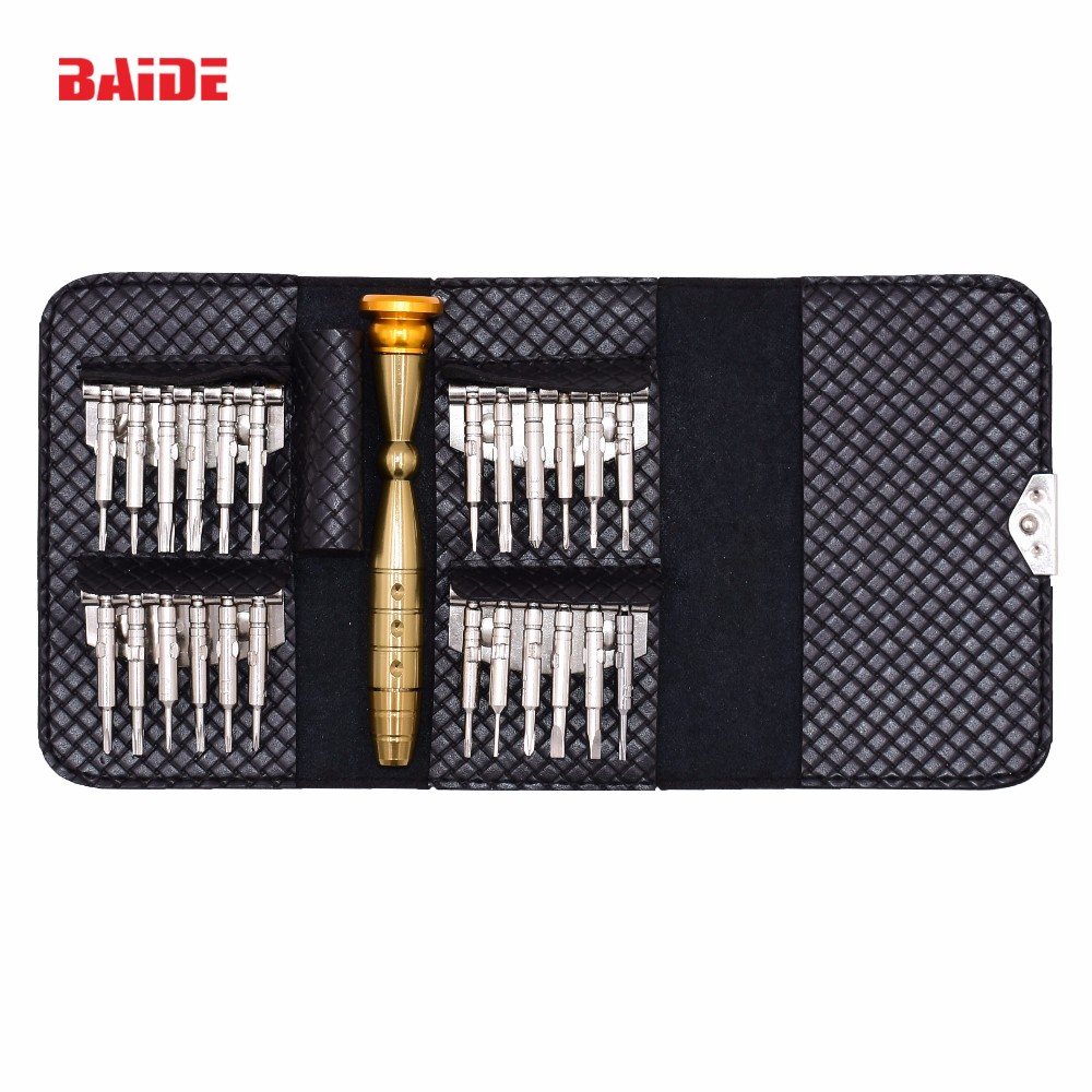 High Quality All in One Set Hot Sale 25 in 1 Wallet Screwdriver <strong>Kit</strong> for iPhone Watch Laptop Torx Electronic Tools 20Set