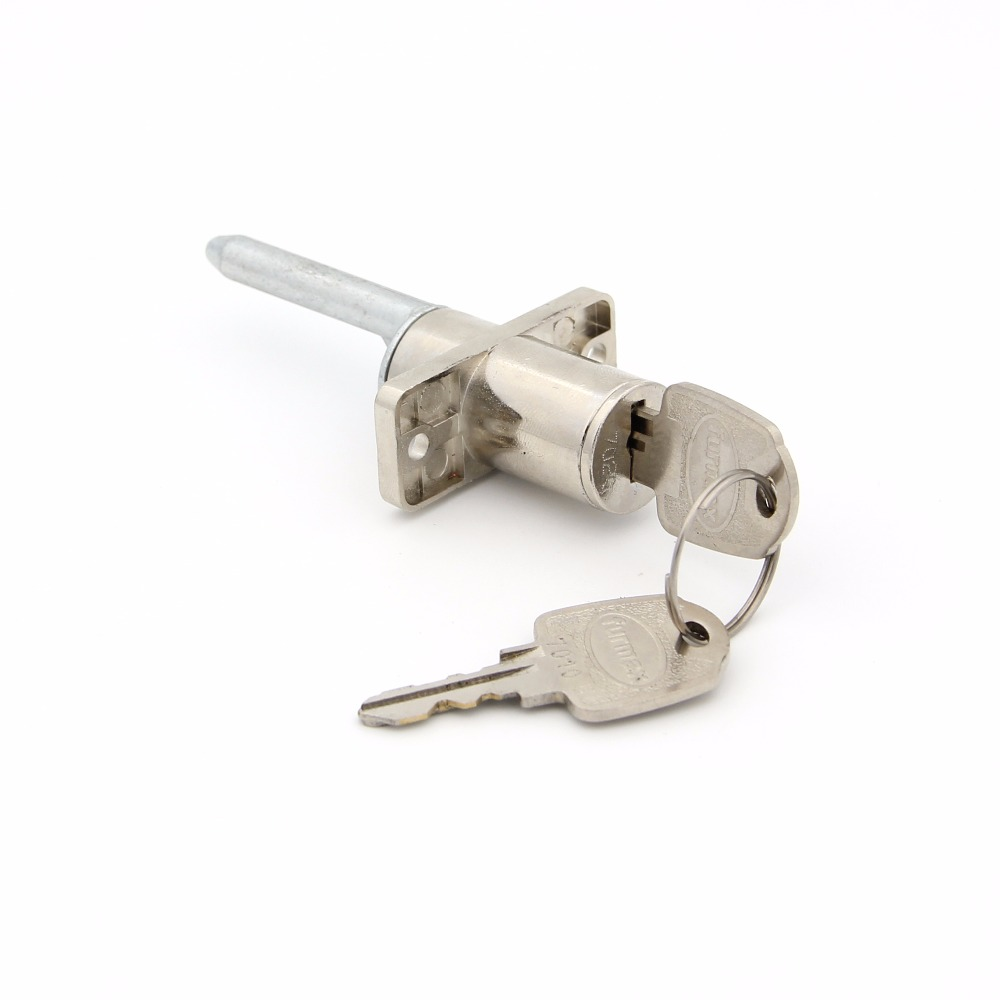 XMHF Office Furniture Drawer Cylinder Cam Lock with 2 Keys Anti-Theft Drawer LockSilver Tone 2PCS
