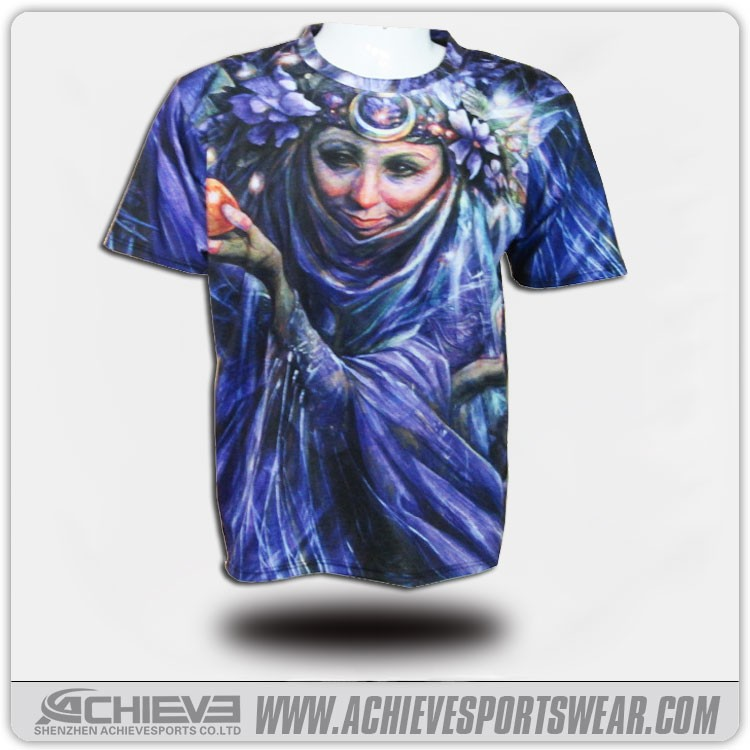 2018 latest design women T-shirts clothes with full sublimation