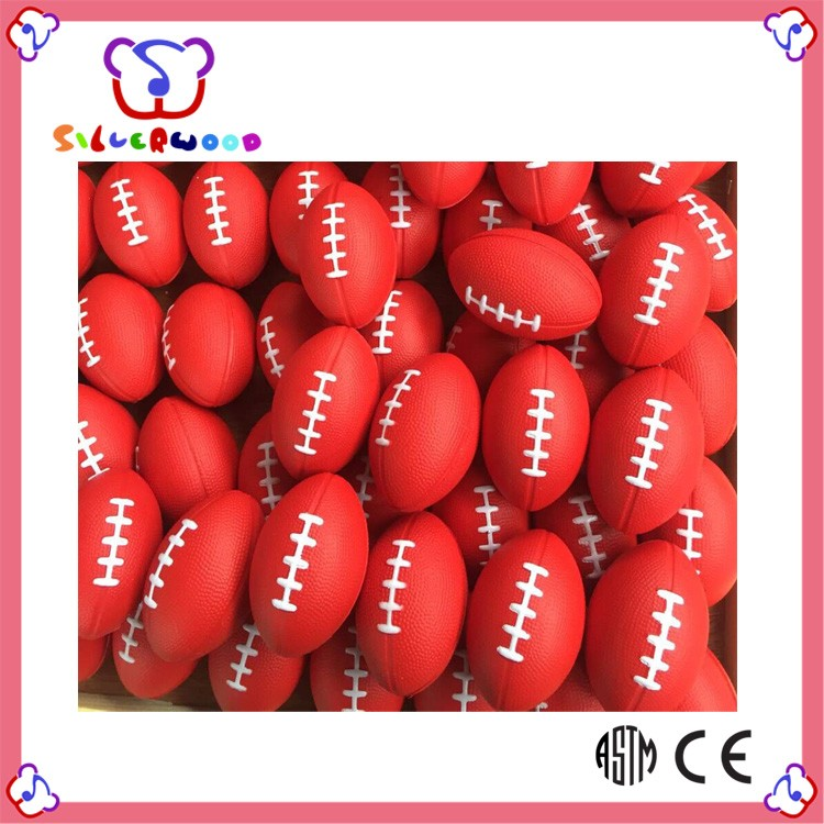 ICTI Factory wholesale economic game toy pu foam rugby ball