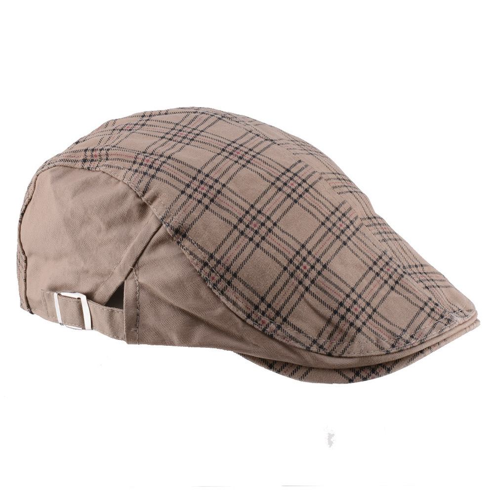 0e956727df6 2019 Hot Sale! 2015 New Fashion Plaid Peaked Caps Travel Golf Gorras ...