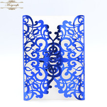 Hot sale luxurious laser cut wedding invitations card envelopes