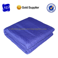 Heavy duty Purple(Dark Blue)Polyester woven moving pads quilted blankets 80-85lbs/dozen