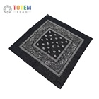 Hot Sales Multipurpose Paisley Bandana, Printed Black Color Square Bandana