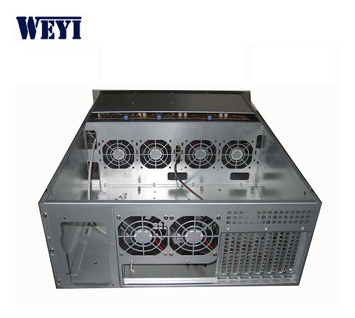 In stock 24 bays 4U rack mount hot swap storage server case industrial chassis SATA SAS backplane