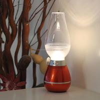 Creative Blowing control kerosene lamps led vintage lights candle blow led table lamp