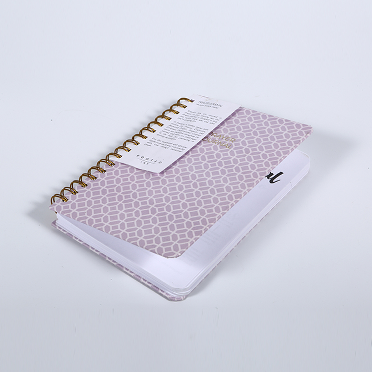 Wholesale customized hardcover spiral notebook with logo printing