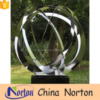 2016 new fashion small metal sphere statue home ornament NTS-010Y