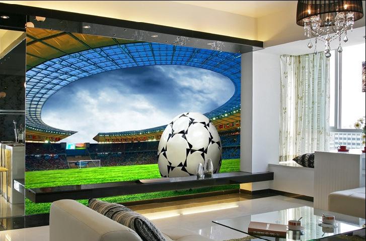 Large 3D Mural Sports Soccer Fields Bedroom Sofa TV