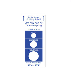warmmark time temperature fabric adhesive stickers label