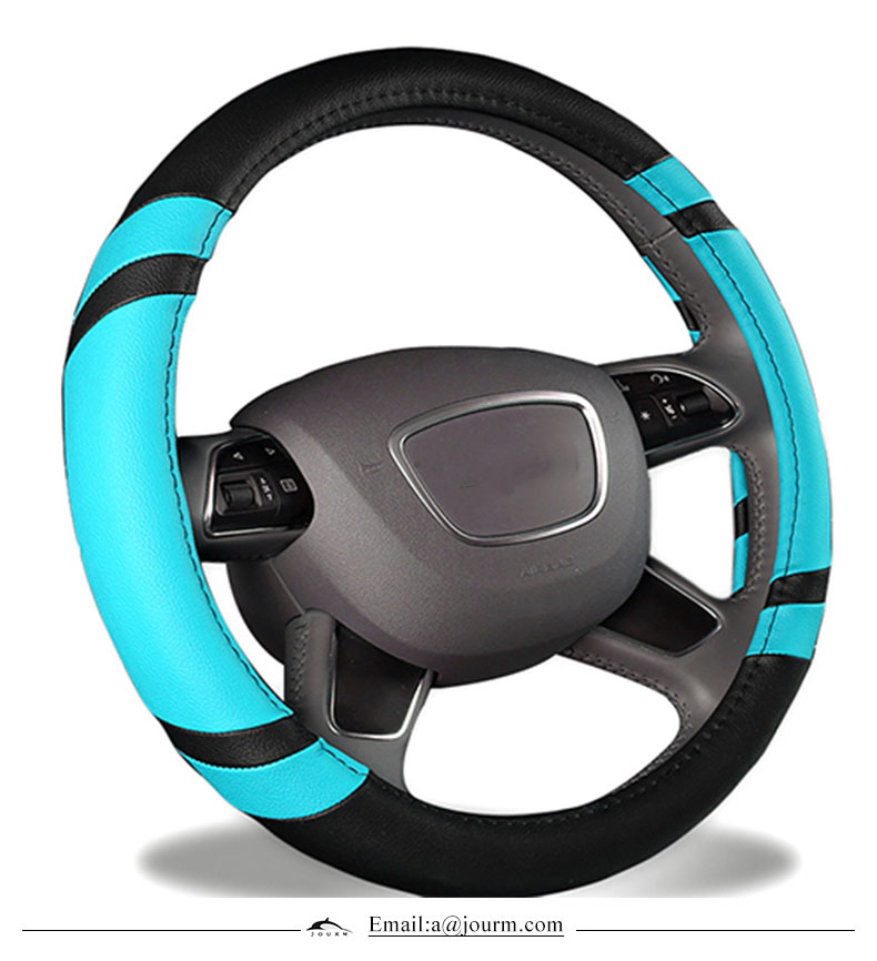 Genuine leather customized color steering wheel cover for peugeot 4007