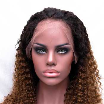 Honey Blonde Ombre 1b 30 Brazilian 12inch Kinky Curly Human Hair Full Lace Wig For Black Women With Bangs Buy 12 Inch Curly Human Hair Full Lace