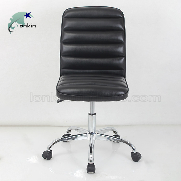 Modern PU Leather Ergonomic office chairs no arms