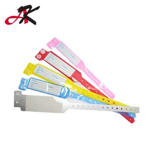 WY033 Colorful PVC Patient ID bracelets /newborn ID bands/hospital wristbands for adult