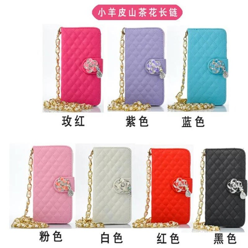 7 colors Beautiful fashion Leather case for iphone 7 with link chain