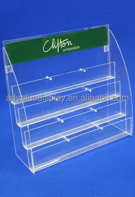 acrylic greeting card display stand counter top acrylic post card display stand