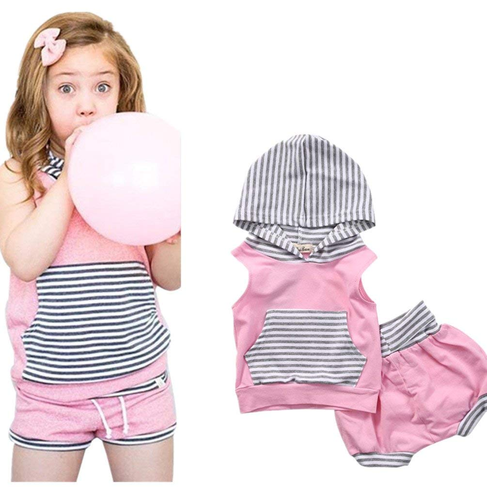 Tassel Fruit Shorts Summer Outfits Set OUTGLE Baby Girl Watermelon Clothes Toddler Girl Smile Vest Top