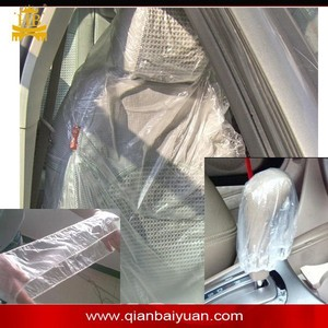 Clear PE material disposable steering wheel cover for all car