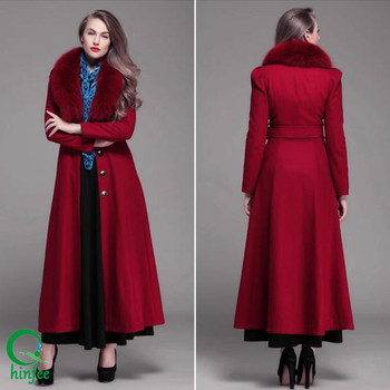 Swc009 China Supplier Womens Maxi Long Red Fur Coats - Buy Fur ...