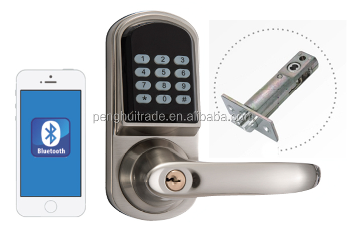 keypad smart bluetooth door locks security door lock with handle