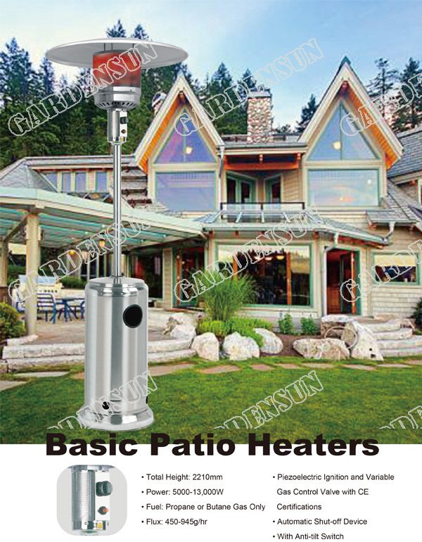 Infrared Gas Quartz Heater Patio Heaterstainless Steel Ce