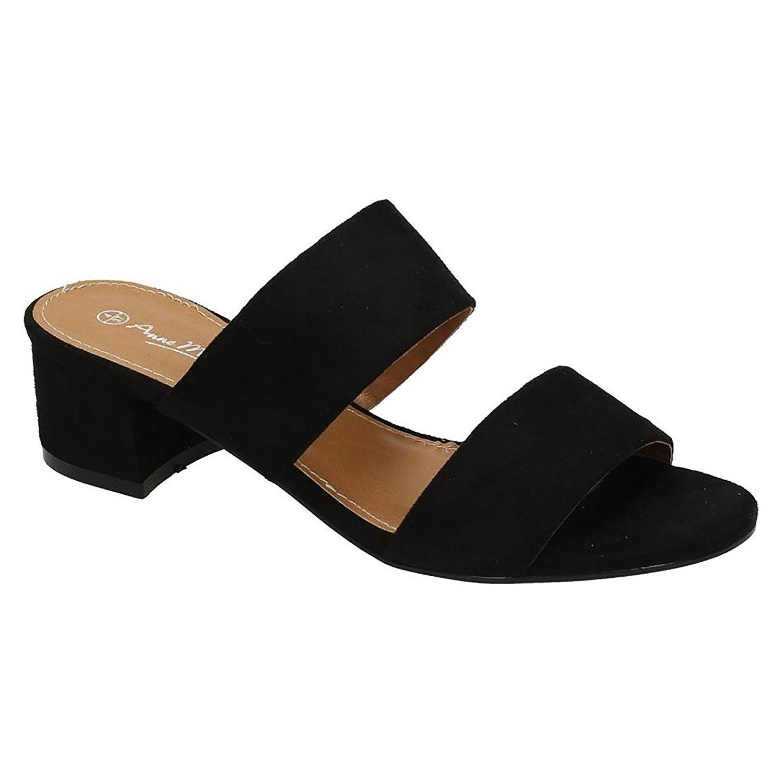 d69f7be41e97b Get Quotations · Anne Michelle Womens/Ladies Mule Strap Open Toe Shoes