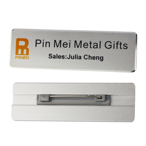 New magnetic blank name badges / metal name tags custom logo