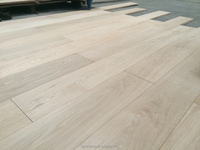 Unfinished wide planks solid oak hardwood flooring