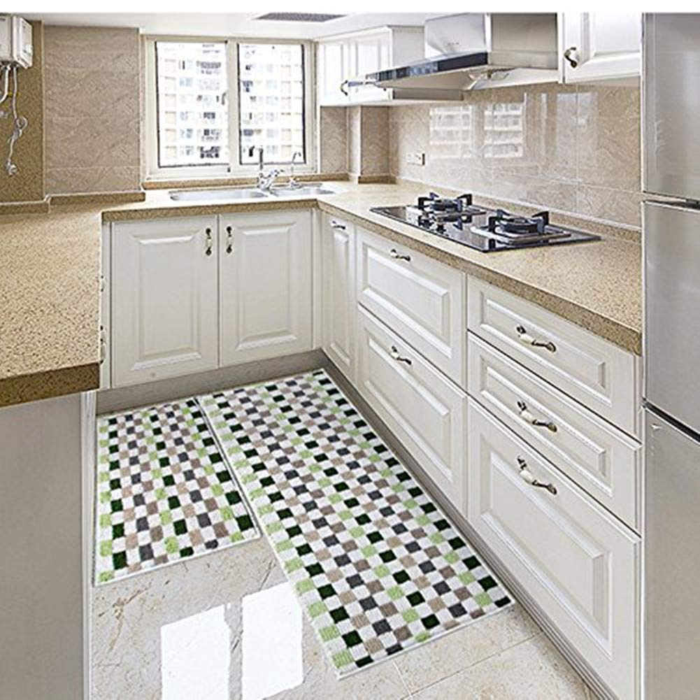 Get Quotations Eanpet Kitchen Rugs Sets 2 Piece Floor Mats Non Slip Rubber Backing Area