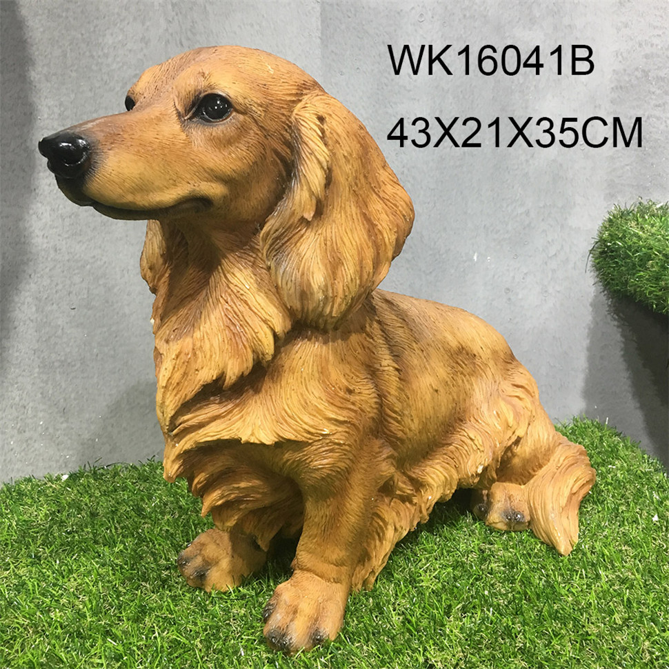 Wholesale outdoor resin garden dog statues life size animal