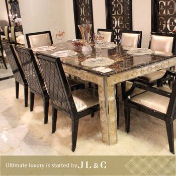 2014 10 seater dining table for dining with marble or